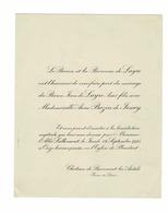 FAIRE PART DE MARIAGE CHATEAU DE BEAUMONT LES AUTELS EURE & LOIR - Wedding