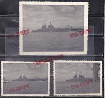 Au Plus Rapide Escale Paquebot La Marseillaise Ex Ml Pétain à Colombo Bâtiments Américains Très Bon état - War, Military