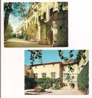 Saint Didier: Château: 2 Cartes:les Tourelles Et Cour D'honneur - Cartes Neuves F.Meyer - - France