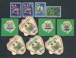 Sierra Leone 1967 December Decimal Currency Provisionals Set 11 MLH - Sierra Leona (1961-...)