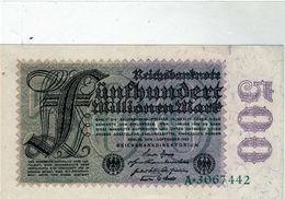 Billet De 500 Millionen Mark - Le 1 Septembre 1923 En S U P - Uni Face - [ 3] 1918-1933: Weimarrepubliek