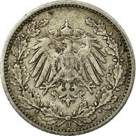 Monnaie, GERMANY - EMPIRE, 1/2 Mark, 1905, Hambourg, TTB, Argent, KM:17 - [ 2] 1871-1918 : Empire Allemand
