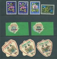 Sierra Leone 1967 December Decimal Currency Provisionals Part Set 8 MNH + 25c Air FU - Sierra Leone (1961-...)