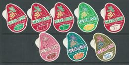 Sierra Leone 1968 - 1969 Decimal Currency Cola Nut Changed Colours Postage Set 8 MNH - Sierra Leone (1961-...)