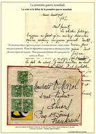 WWI - 29 Juillet 1914 - La Crise Et Le Début ...lettre De Vienne Le 1 Er Août 1914 - Marcophilie (Lettres)