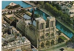 Cpm 75 Paris 1 Cathédrale Notre Dame Vue Aerienne - Notre Dame De Paris