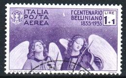 ITALIE - POSTA AEREA  1935 -Catal. UNIFICATO  A93 - Lire. 1+1 - Centenario Della Morte Di Vincenzo Bellini - 130€ - Poste Aérienne