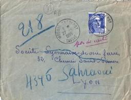 73 - SAVOIE - MODANE ENTREPOT - TàD De Type A6 De 1955 - Postmark Collection (Covers)