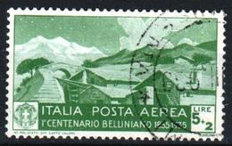 ITALIE - POSTA AEREA  1935 -Catal. UNIFICATO  A94 - Lire. 5+2 - Centenario Della Morte Di Vincenzo Bellini - 200€ - 1900-44 Victor Emmanuel III
