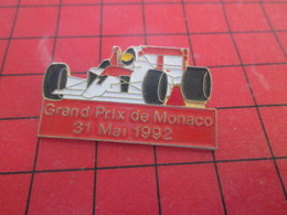 612a Pins Pin's  / Rare, Belle Qualité / THEME AUTOMOBILES : F1 FORMULE 1 GRAND PRIX DE MONACO 92 - F1