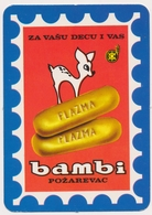 1979  PLAZMA Bambi, Biscuit Food , Pozarevac Serbia Old Pocket Calendar - Calendars