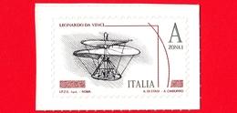 Nuovo - MNH - ITALIA - 2015 - Leonardesca - A Zona 1 - Vite Aerea  - Leonardo Da Vinci - Val. € 3.50 - 1946-.. République