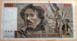 France - 100 Francs Delacroix 1991 Alphabet G 196 N° 963160 - 100 F 1978-1995 ''Delacroix''