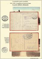 WWI - L'occupation Du Nord De La France -la Poste Militaire Allemande - Marcophilie (Lettres)