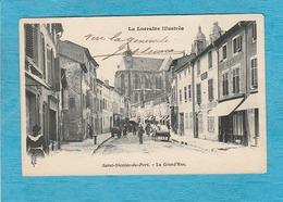 Saint-Nicolas-de-Port ( Meurthe-et-Moselle ). - La Grande Rue. - Café-Restaurant. - Saint Nicolas De Port