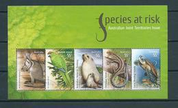 2009 Australia Complete M/Sheet Animals,dieren,tiere,species At Risk Used/gebruikt/oblitere - Usati