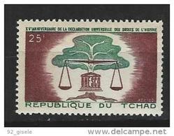 """Tchad YT 93 """" Déclaration Des Droits De L'Homme """" 1963 Neuf** - Ciad (1960-...)"""