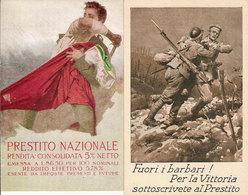 (CM).Prestito Nazionale Firmate Da Illustratore.Lotto Di 2 Cartoline.F.to Piccolo (141-a18) - Patriotiques