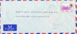 Iran 1977 Airmail Cover To Italy With 14 R. - Iran