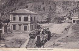 Cartolina Palazzo Adriano ( Palermo ) Stazione Ferroviaria - Viaggiata - Palermo
