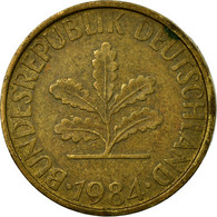 Monnaie, République Fédérale Allemande, 10 Pfennig, 1984, Stuttgart, TB - 10 Pfennig