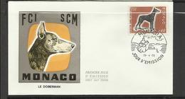 Monaco FDC YT 816  Chien Dog  Hund Perro Hundo Pies - Honden