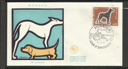 Monaco FDC YT 816 B  Chien Dog  Hund Perro Hundo Pies - Honden