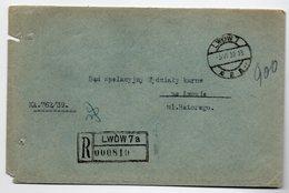 Poland Ukraine Registered Lwow 1939 - 1919-1939 Republic