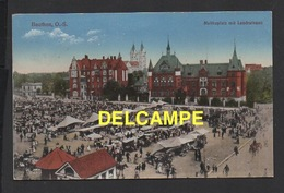 DD / POLOGNE / BYTOM / BEUTHEN / PLACE MOLTKE ET LE MARCHÉ / ANIMÉE / 1921 - Pologne
