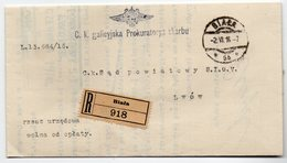Poland Registered Biala Lwow Wafer 1916 - ....-1919 Provisional Government