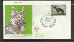 Monaco FDC YT 922 A Chien Dog  Hund Perro Hundo Pies - Honden