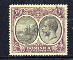 APR668 - DOMINICA 1923 , 3 Sh/-  Yvert N. 79  Usato (2380A) . - Dominica (...-1978)