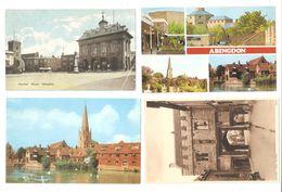 FOUR ABINGDON OXFORDSHIRE POSTCARDS - England
