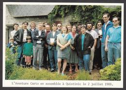 L'Aventure Carto En Assemblée à QUISTINIC LE 2 Juillet 1988 - Illustrateurs & Photographes