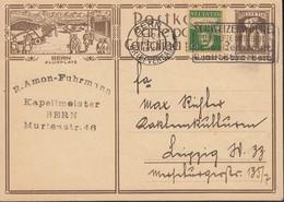 SCHWEIZ  Mi. P 132 I / ZNr.119.3, Bildpostkarte: BERN FLUGPLATZ, Stempel: Bern 13 IX.1929 - Ganzsachen