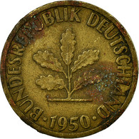 Monnaie, République Fédérale Allemande, 5 Pfennig, 1950, Karlsruhe, TB, Brass - [ 7] 1949-… : RFA - Rép. Féd. D'Allemagne