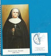 Relic    Reliquia    Mére Marie Léonie Paradis - Images Religieuses