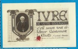 Relic    Reliquia    Cardinal Mercier - Devotieprenten