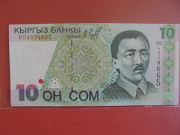 KIRGHIZISTAN 10 SOM 1997 PEU CIRCULER/NEUF - Kirghizistan