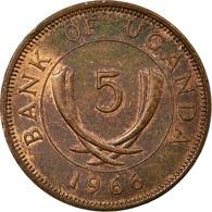 Monnaie, Uganda, 5 Cents, 1966, TB+, Bronze, KM:1 - Uganda