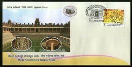 India 2018 Bhoga Nandishwara Temple Hindu Mythology Kolarpex Special Cover # 18586 - Inde
