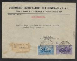 RACCOMANDATA DA ROMA PER CITTA' - 24.12.1930. - 1900-44 Victor Emmanuel III