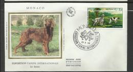 Monaco FDC YT 1208 B Chien Dog  Hund Perro Hundo Pies - Chiens