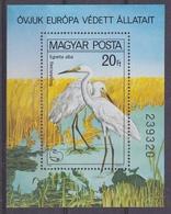 Hungary 1980 European Nature Protection M/s PERFORATED ** Mnh (42494D) ROCK BOTTOM PRICE - Idées Européennes