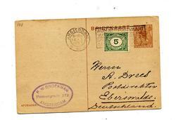 Carte Postale 7 1/2 Reine + Chiffre Flamme Amsterdam - Entiers Postaux