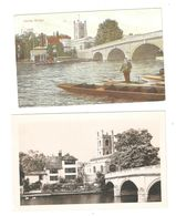 TWO HENLEY BRIDGE OXFORDSHIRE POSTCARDS - England
