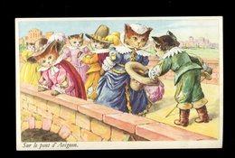CPA - SUR LE PONT D'AVIGNON - - Katzen
