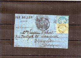 Ballon-Monté - N°28 - Le Daguerre Certain - Formule Aux Drapeaux - Marcophilie (Lettres)