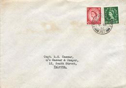 UK 1952 FPO 757 Malta Castille Forces Military Domestic Cover - Malta