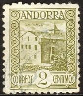 ~~~ Spanish Andorra Andorre 1929 - La Vall Perf 11½  - Mi. 15 B (o)   ~~~ - Spaans-Andorra